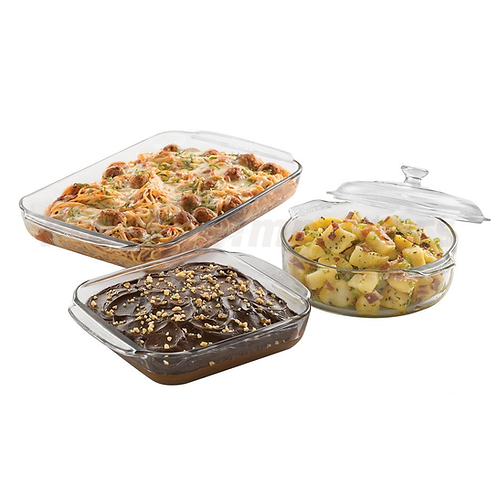 Libbey - Bake 4-pc set (4.3/1.8/2.0QT w/ LID)