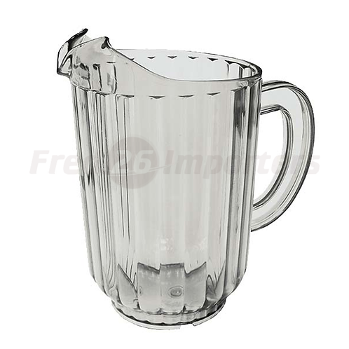 60oz. SAN Plastic, Clear, Single Spout