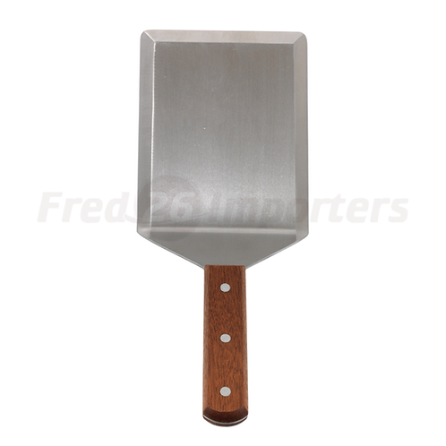 Extra Heavy Turner with Cutting Edge, Wooden Handle