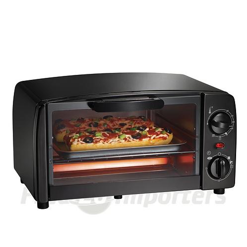 Proctor Silex 4 Slice Toaster Oven Broiler, Black