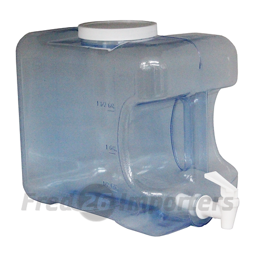 2 Gallon Square Water Container with Spout