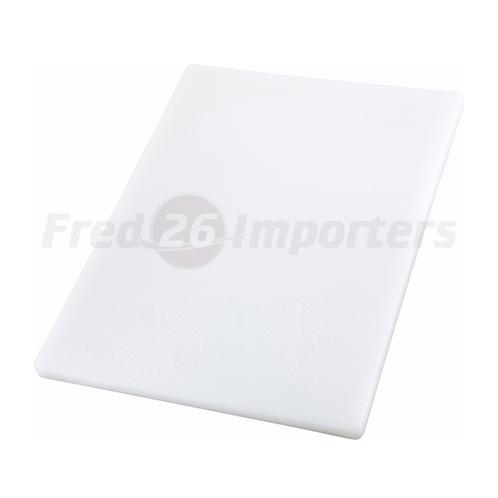 "15"" x 20"" x 1"" Cutting Board, White"
