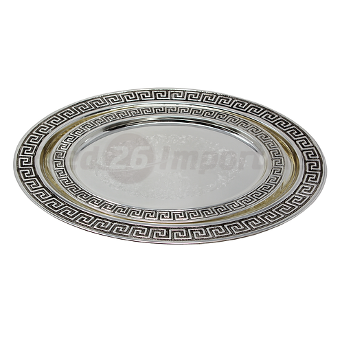 2Pc Tray - Antique Silver Plated (Oval Tray)