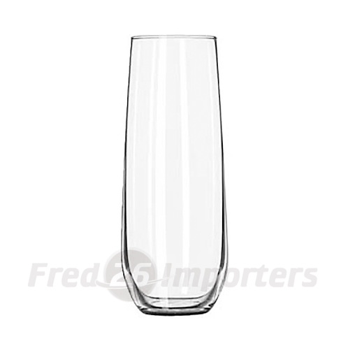 Libbey 8.5 oz. Stemless Flute Glasses in Clear