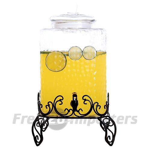 18L (19Qt) Beverage Glass Jar with Rack