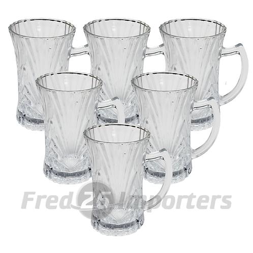 6 Pc. Elegant Tea Mug Set