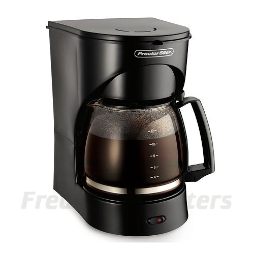 Proctor Silex 12 Cup Coffeemaker, Black