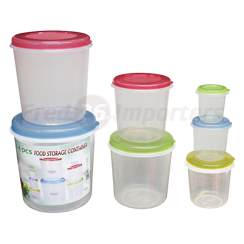 14Pc. Cylindrical Plastic Container Set