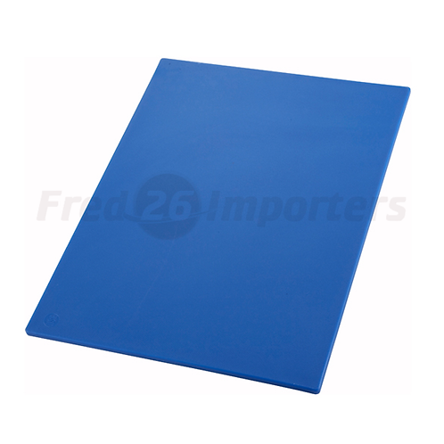 """12"""" x 18"""" x 1/2"""" HAACP Color-Coded Cutting Board, Blue"""