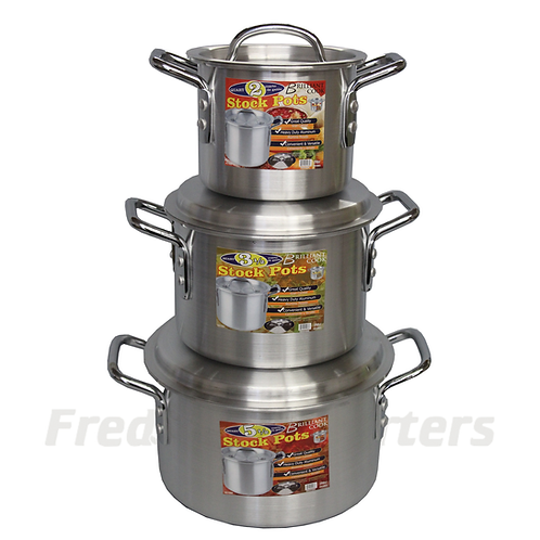 Brilliant Cook 3 Pc. Aluminum Stock Pot Set (2, 3.5, 5.5Qts)