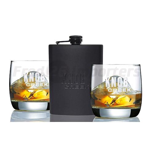 Knob Creek Flask/Glass Set