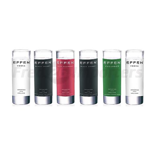 Luminarc Effen Assorted Shot Glasses, 2.25-Ounce, Set of 6