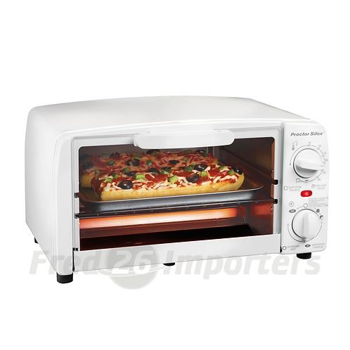 Proctor Silex 4 Slice Toaster Oven Broiler, White