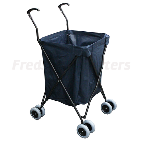 Folding Shopping Cart w/ Blue Bag