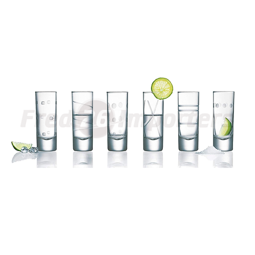 Luminarc Soho Assorted Shot Glasses 2.25oz Set of 6
