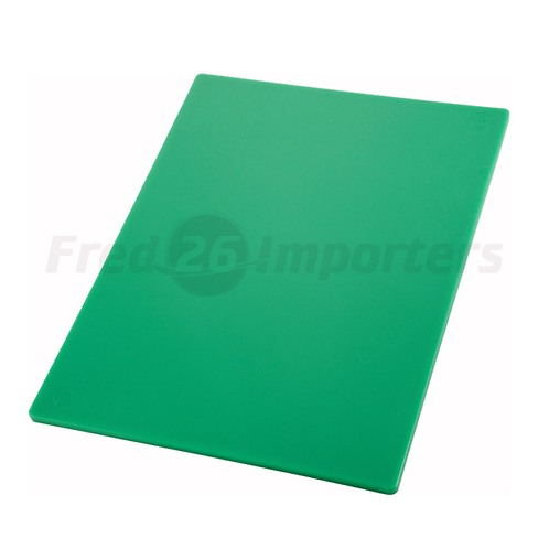 "12"" x 18"" x 1/2"" HAACP Color-Coded Cutting Board, Green"