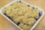 Gluten-free dairy-free egg-free vegan-friendly blackberry and pear crumble