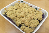 Gluten-free dairy-free egg-free vegan-friendly pear and blackberry cobbler