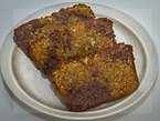 Slices of gluten-free, dairy-free, vegan-friendly, mocha marble loaf cake by GlutenFreegan