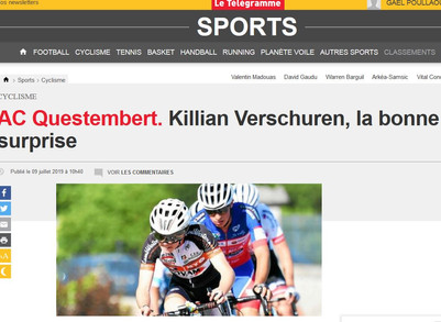 Article de presse sur Killian VERSCHUREN