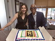 IMG_2902_reviDr Jacqueline Richmond and Dr. Collis Johnson with cake