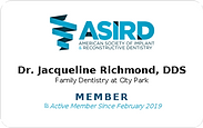 American Society of Implant and Restorative Dentistry Jacqueline Richmond DDS