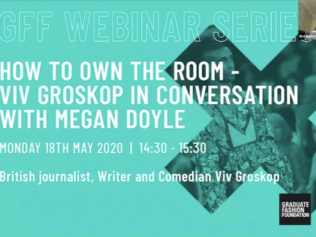 GFF Webinar: How to Own the Room with Viv Groskop