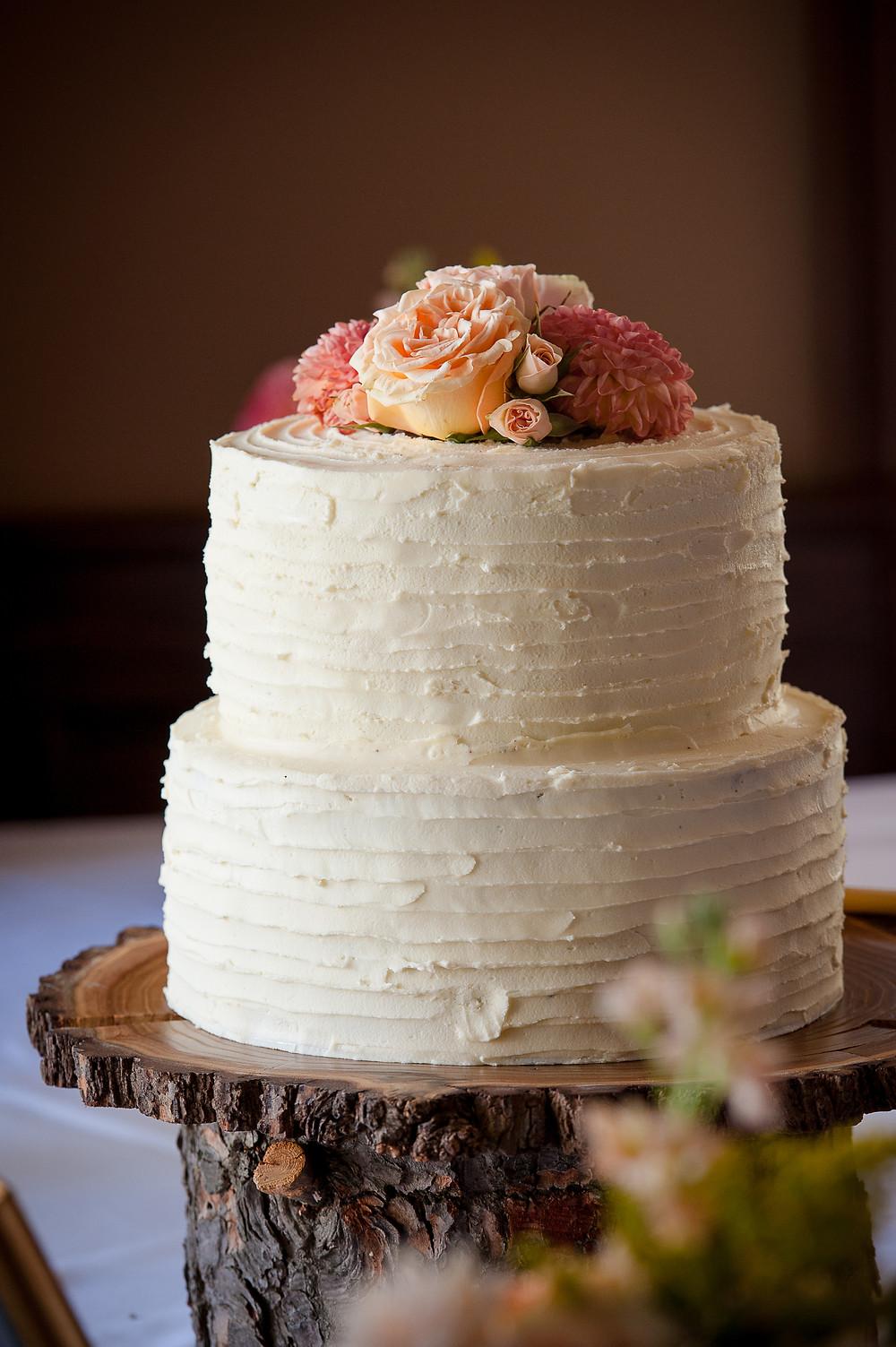 This beautiful cake was all chocolate fudge cake with white chocolate buttercream.