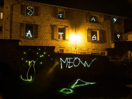 Confinement: Light Painting avec les voisins