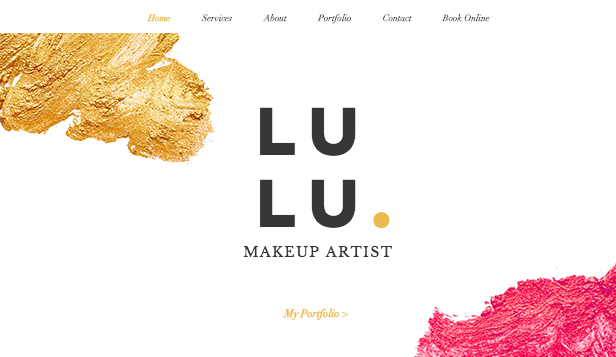 Hair & Beauty website templates – Professional Makeup