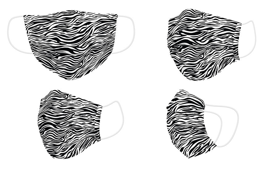 Mascarilla Reutilizable Zebra - Naturals