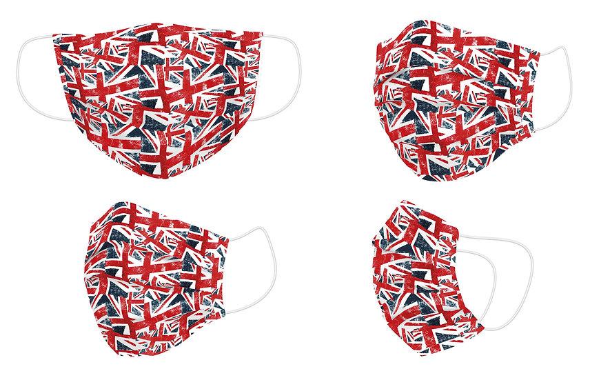 Mascarilla Reutilizable UK Flag - Naturals