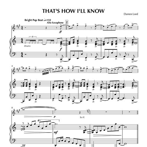 THAT'S HOW I'LL KNOW (Flute, Clarinet, Alto Sax)