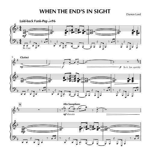WHEN THE END'S IN SIGHT (Flute, Clarinet, Soprano Sax, Alto Sax)