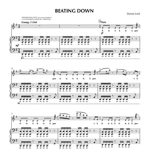 BEATING DOWN (Flute ft. 'Fluteboxing', Clarinet, Soprano Sax)