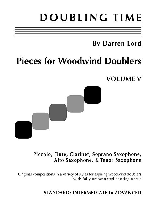 DOUBLING TIME - Pieces for Woodwind Doublers - Volume V