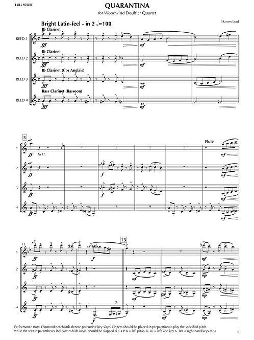 QUARANTINA for Woodwind Doubler Quartet