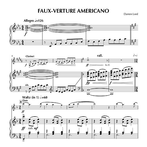 FAUX-VERTURE AMERICANO (Piccolo, Flute, Clarinet, Alto Sax)