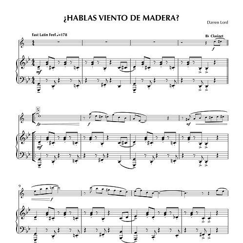 ¿HABLAS VIENTO DE MADERA? (Flute, Clarinet, Soprano Sax, Alto Sax)