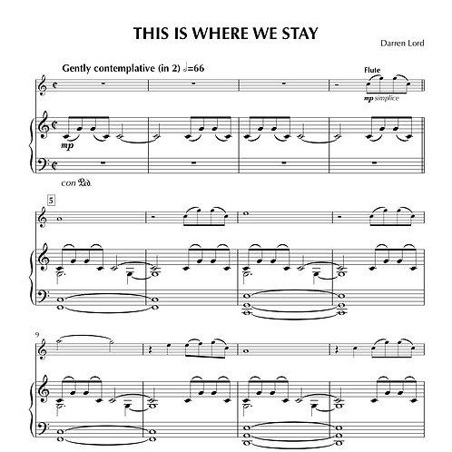 THIS IS WHERE WE STAY (Flute, Clarinet, Tenor Sax, Piccolo/D Whistle, Alto Sax)