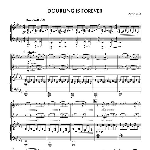 DOUBLING IS FOREVER (Flute, Alto Flute/Clarinet, Clarinet, Alto Sax)
