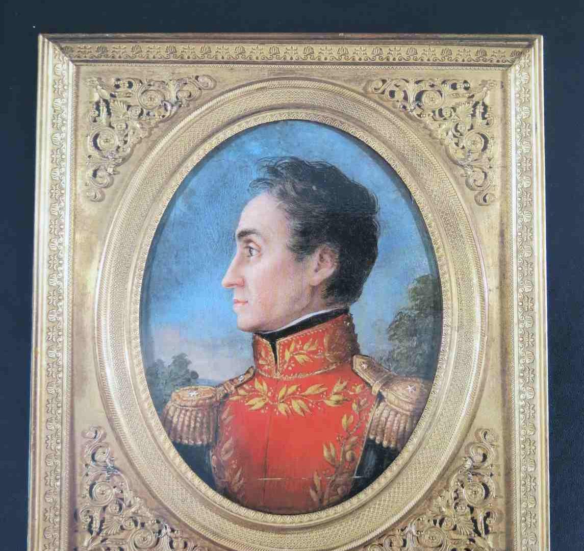 Imagen de la portada del libro de Alfredo Boulton, El rostro de Bolívar.