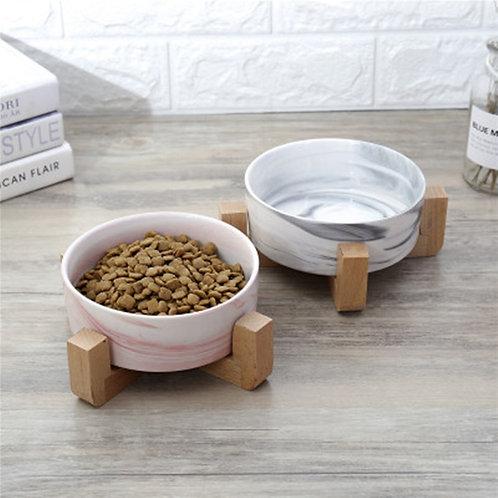 Marble Ceramic Pet Bowl for Food & Water