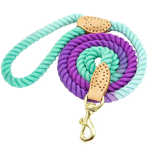 150cm Ombre and soft colour cotton rope Dog Leash