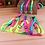 Thumbnail: Rainbow Dog Harness and Leash Set