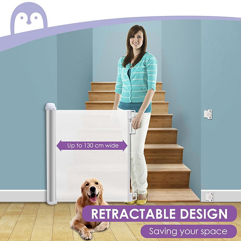 Retractable Pet Safety Door Barrier