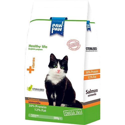 Paw Sterilized Neutered Somonlu Cat Food 500Gr