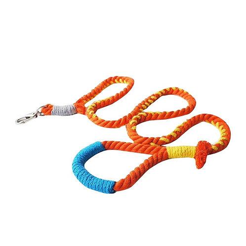 Multicolour Cotton Rope Leash