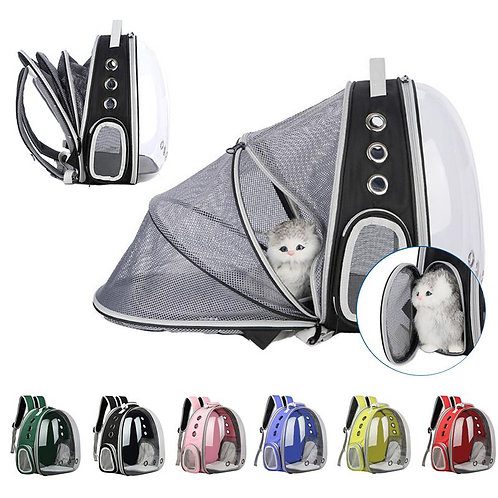 Portable Cat Backpack with Foldable Runway