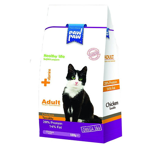 Paw Chicken Adult Cat Food 500Gr